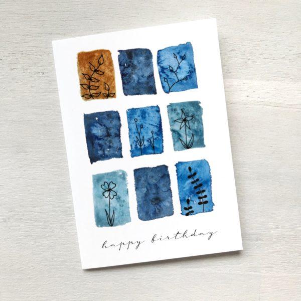 Grusskarte happy birthday goldig