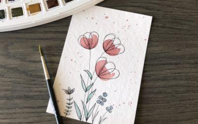 Einfache Blumen malen: Schritt für Schritt zum Nachmachen