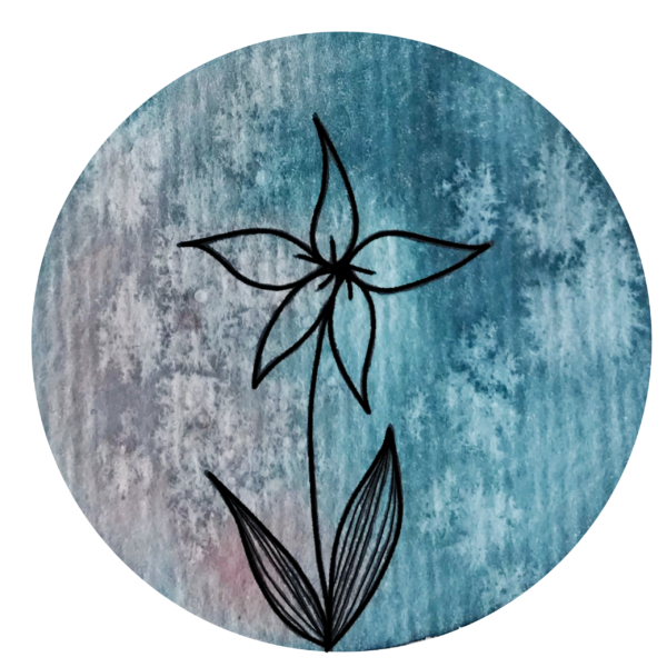Blume türkis