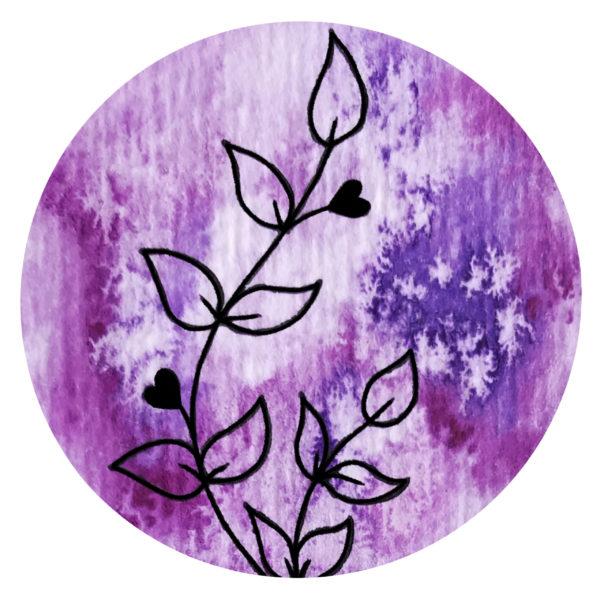 Blume violett