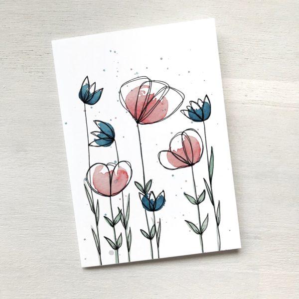 Karte mit Blumenwiese