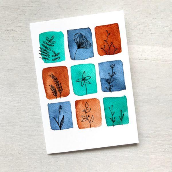 Grusskarte siena türkis blau