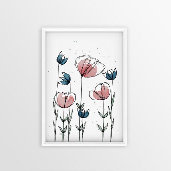 Art Print Blumenwiese