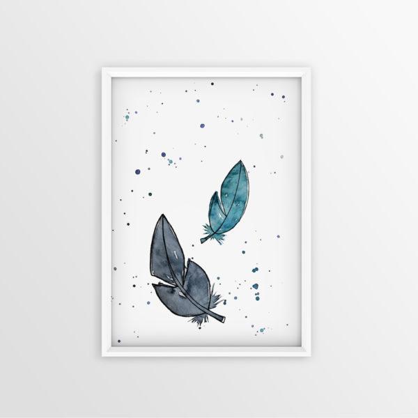 Art Print Federn