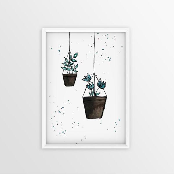 Art Print Haning Plants