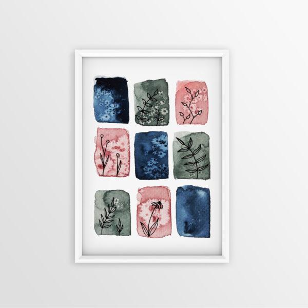 Art Print Aquarell Ein Hauch Rosa