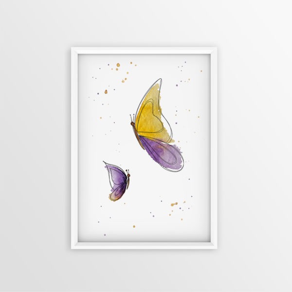 Art Print Schmetterling
